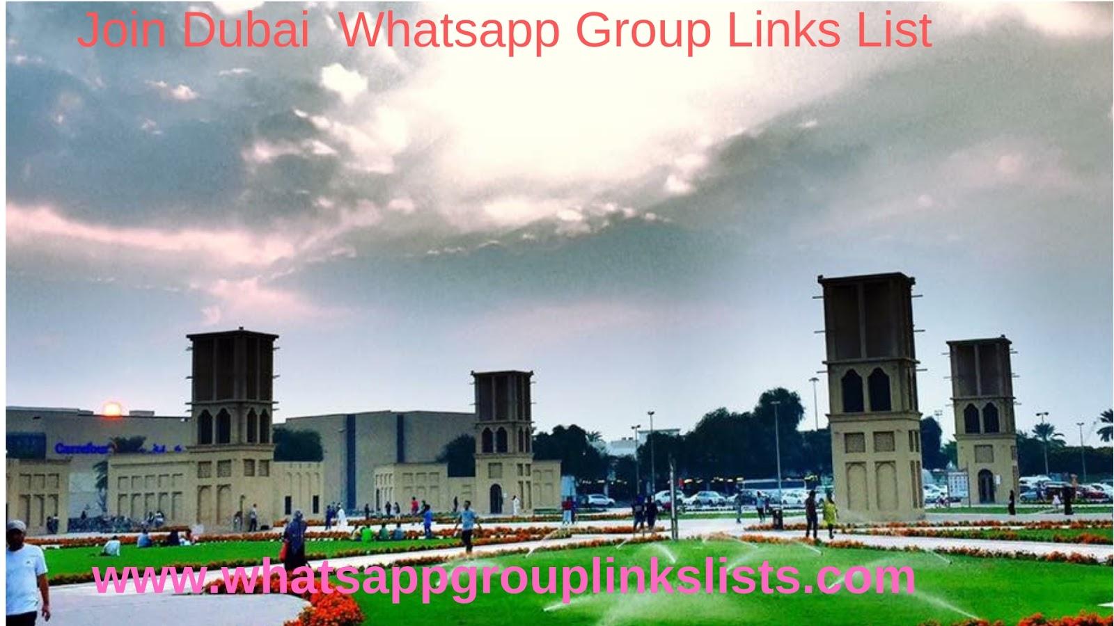 Join Dubai Whatsapp Group Links List