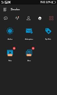 BBM DARK FUTION THEME Base v3.0.1.25 BBM MOD Dark Navy Terbaru 2016