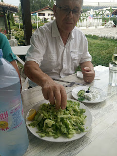 Evidence of my Dad eating salad