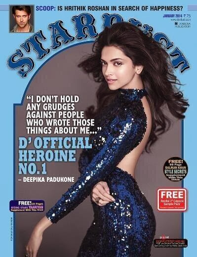 D'Official Heroine No.1: Deepika Padukone photoshoot on cover of Stardust January issue
