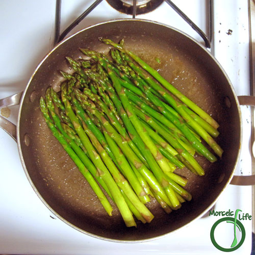 Morsels of Life - Brown Butter Asparagus Step 3 - Add asparagus and lime juice, cooking until asparagus cooked to desired tenderness.