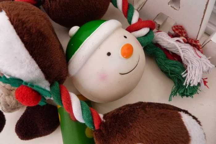 a photo of pets at home dog christmas toys
