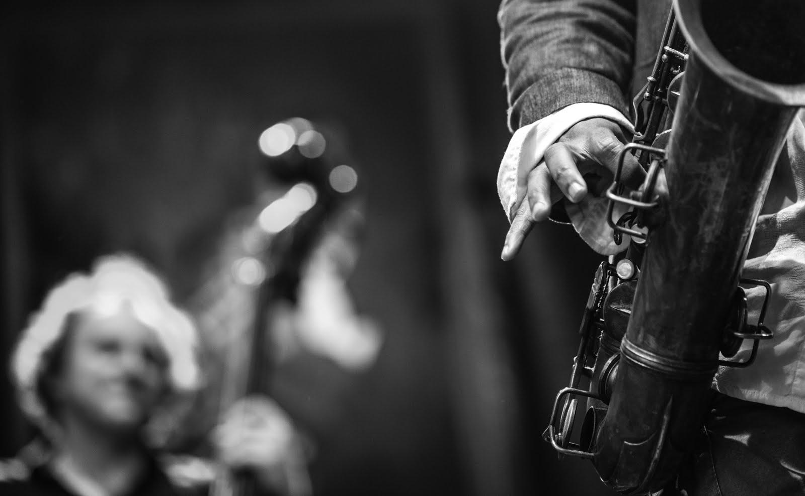 Siyah beyaz Jazz Stok Fotoğraf