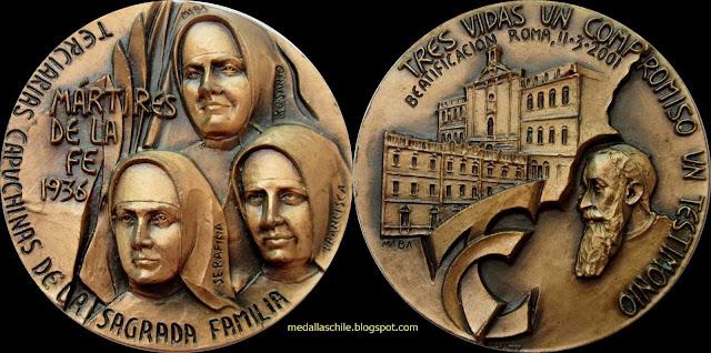 Medalla Martires Terciarias Capuchinas