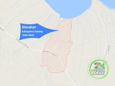 PETA : Desa Blanakan, Kecamatan Blanakan