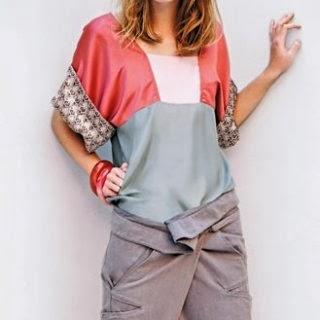 patron gratis blusa kimono bloques