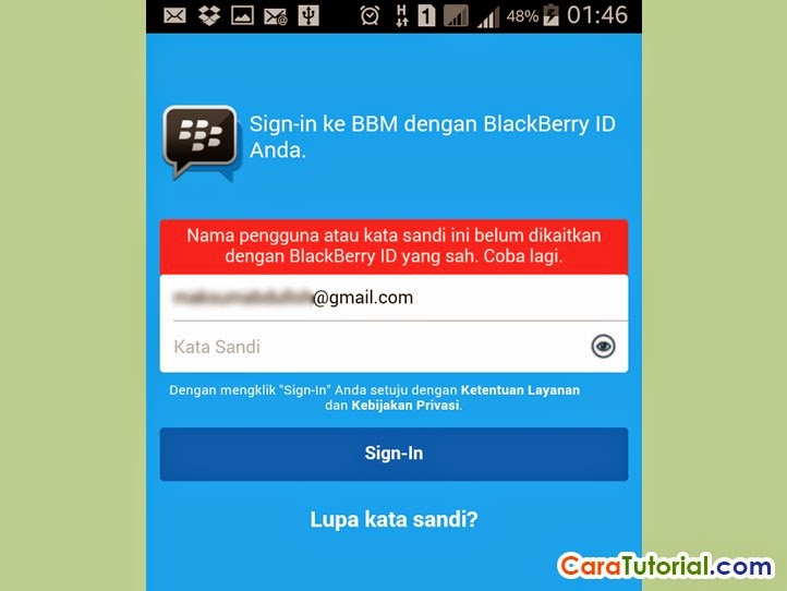 Mengatasi lupa password bbm