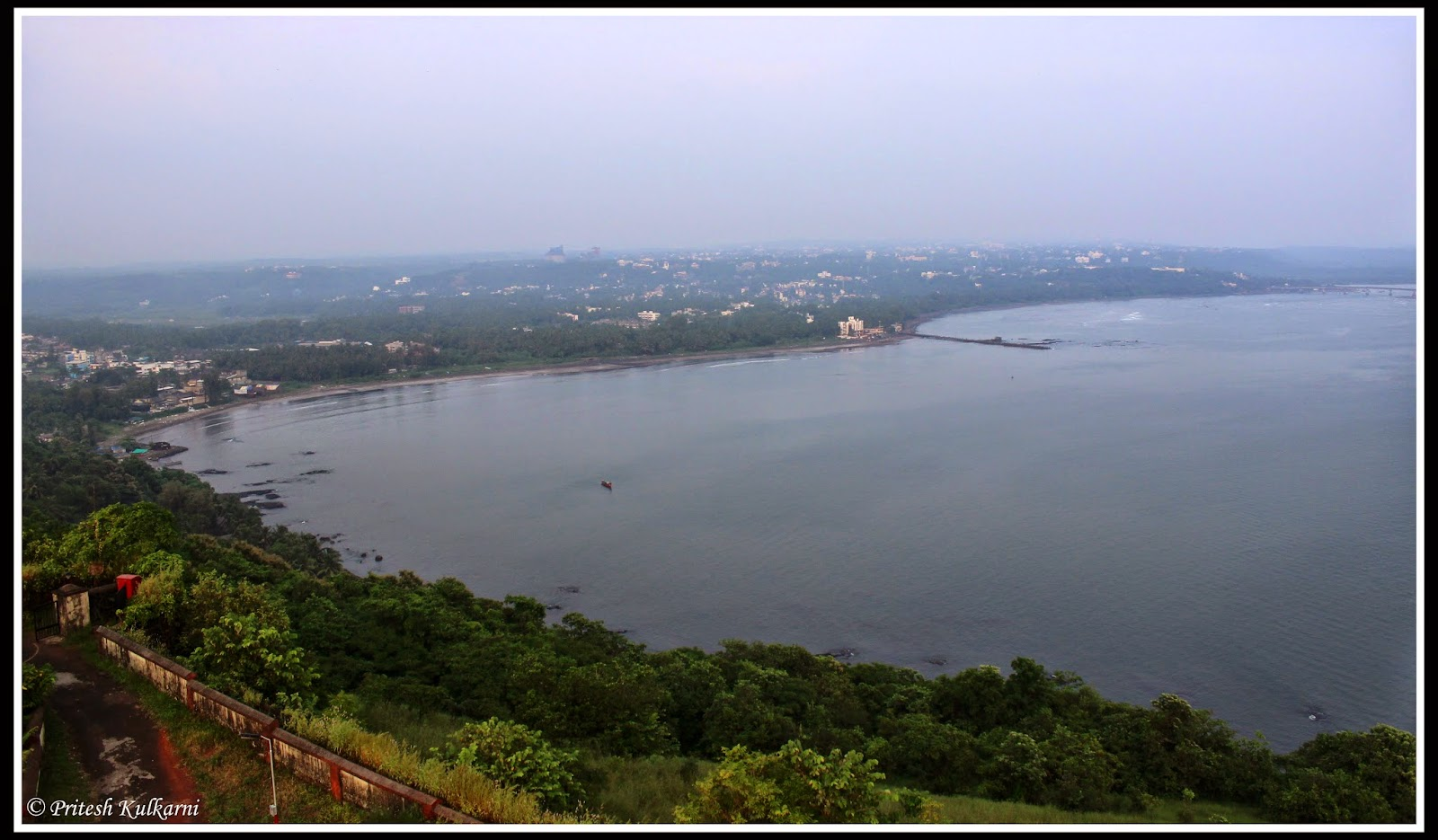 View of Ratnagiri city from lighthouse