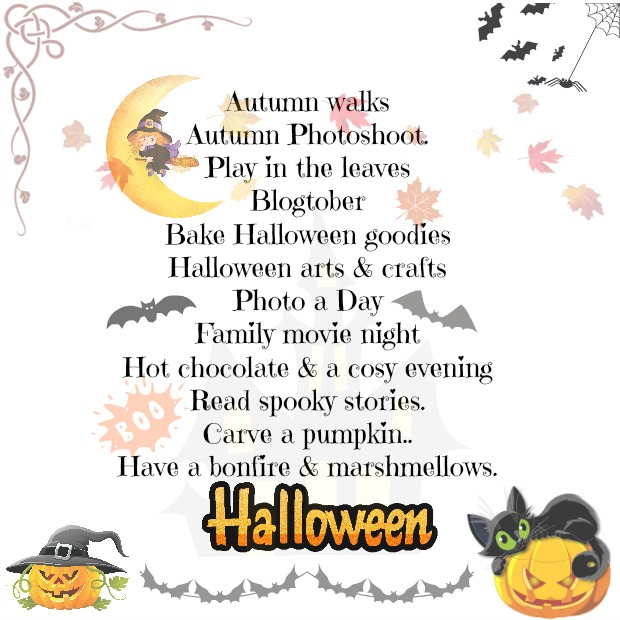 October and Halloween Bucket List