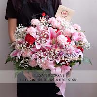 hand bouquet lily, hand bouquet murah, toko bunga jakarta,