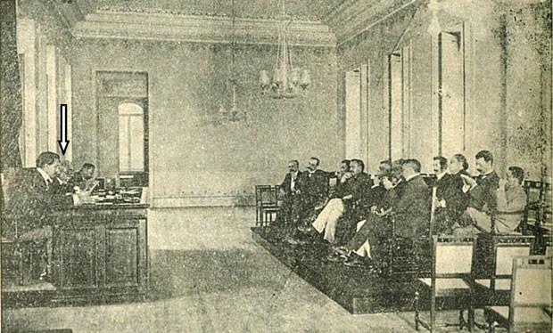 Foto rara de Machado de Assis presidindo a ABL é encontrada