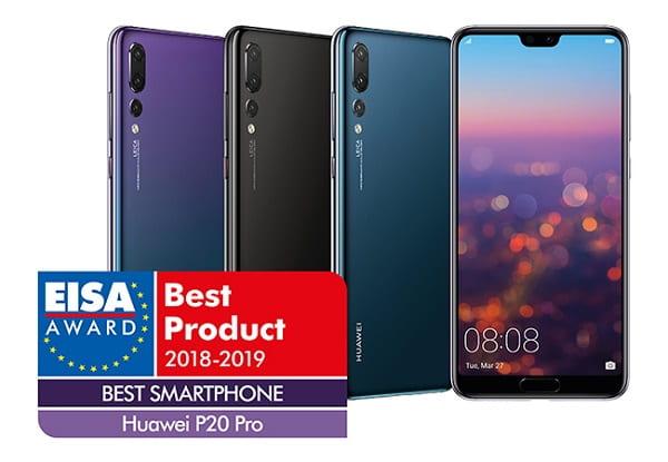 هواوي P20 Pro يفوز بجائزة أفضل هاتف ذكي لهذا العام من قبل EISA
