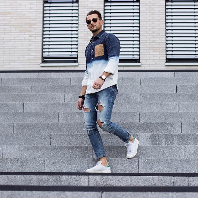 Looks masculinos com calças jeans rasgada masculina (1)