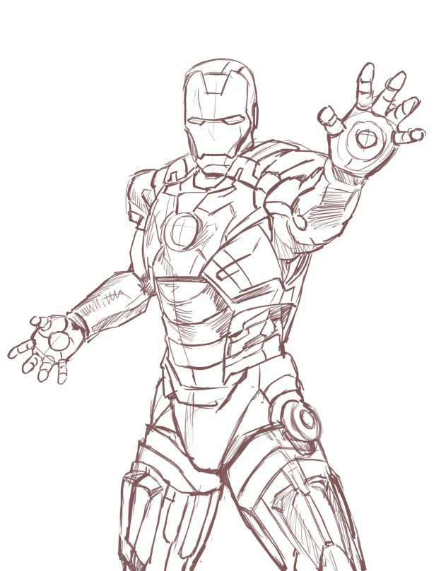 iron man drawing pictures ~ 3D Drawing