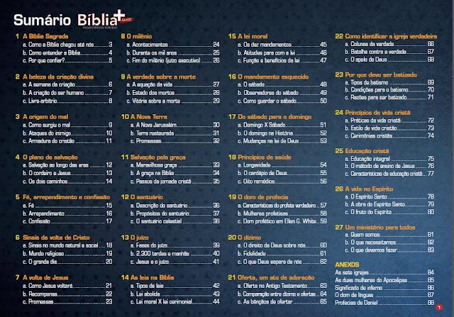Biblia Mais Sumário