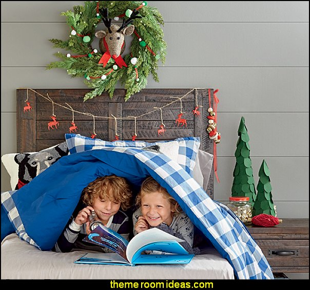 Rustic Christmas decorating kids rooms