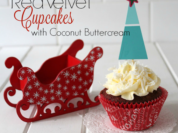 Red Velvet Cupcakes with Coconut Buttercream