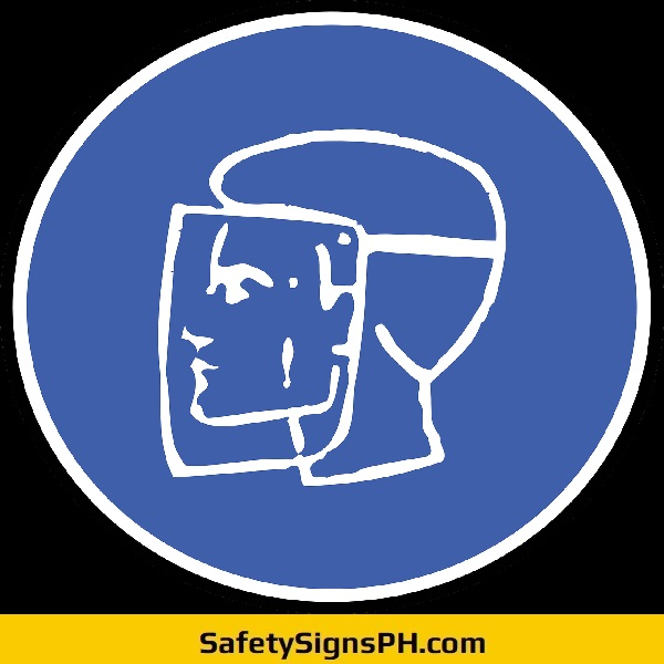 Welding Mask Face Protection Sign