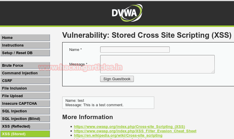 Stored XSS Exploitation in DVWA (Beginner Guide)