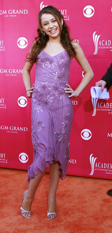 Red Carpet Dresses Miley Cyrus Academy Of Country Music