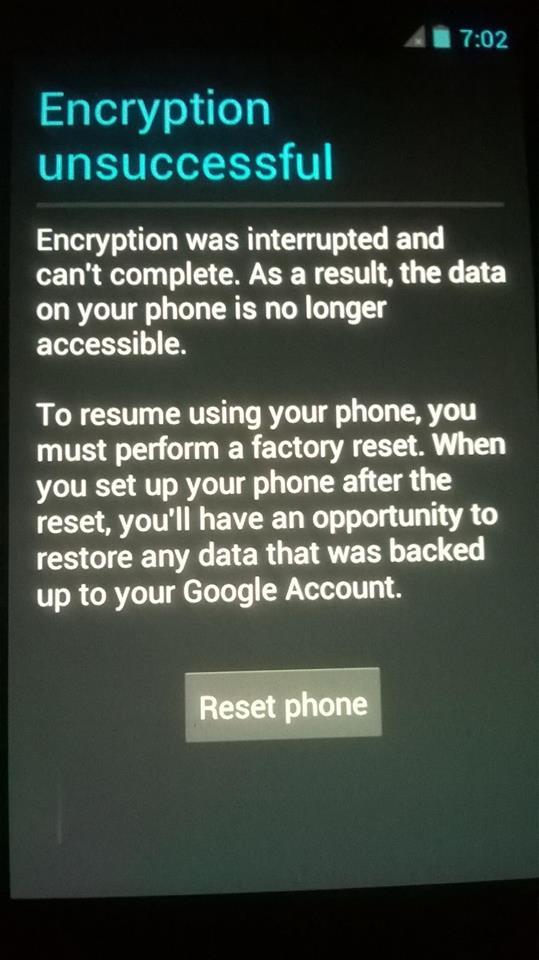 Y625 U32 Encryption Unsuccessful Error Fix 100  Test