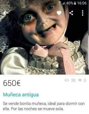 realismo de la muñeca, anuncio, miedo, susto, muñecas