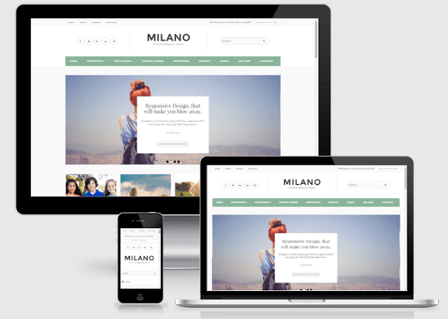 Milano premium personal blogger template