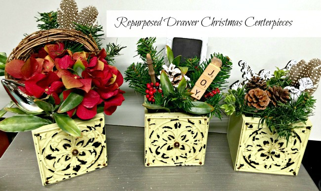Sewing Machine Drawer Christmas Centerpieces  www.homeroad.net