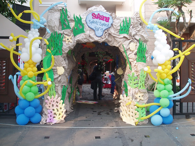 dekorasi balon gapura gate birthday