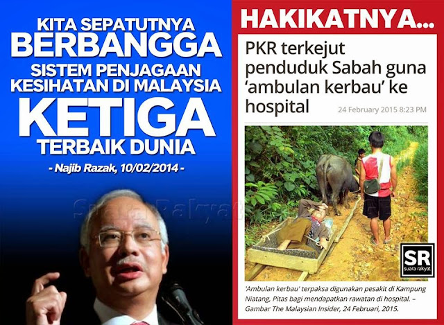 Image result for Gambar Umno Kaya rakyat miskin