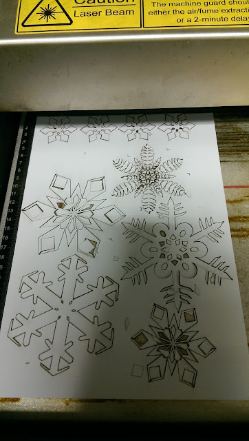 A variety of snowflake shapes