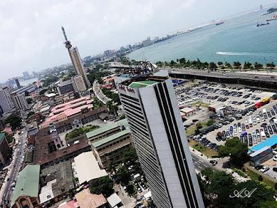 Aerial view, Lagos Island