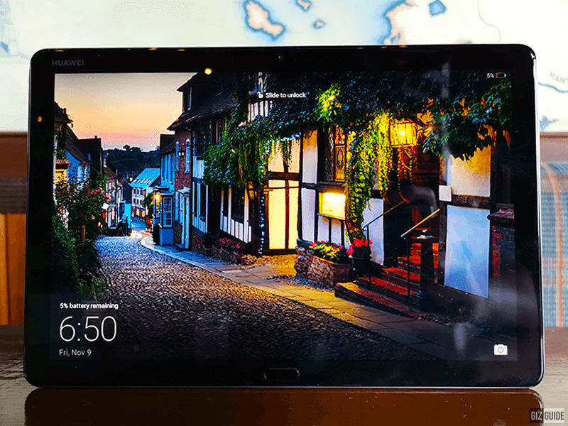 The 10.1-inch FHD IPS screen is a treat to look at