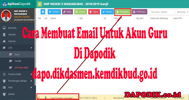 Panduan Cara Membuat Email Untuk Akun Guru Pada Aplikasi Dapodikdasmen 2020 -  dapo.dikdasmen.kemdikbud.go.id