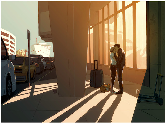 Departures (2015) by Guy Shield | ilustraciones imaginativas, sentimientos y emociones, imagenes bonitas, nostalgicas, bellas, illustration art, cool stuff.