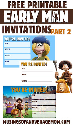 free printable early man 2018 birthday invitations
