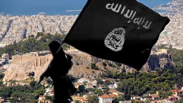 Αποτέλεσμα εικόνας για «Σημαίες του ISIS έκαναν την εμφάνισή τους σε κατάληψη κτιρίου στην οδό Αραχώβης της Αθήνας»