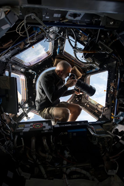Astronaut Chris Cassidy takes a snap of Earth from the Cupola module of the ISS