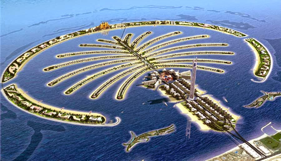 The Man-made Palm Islands at UAE | About In Dubai