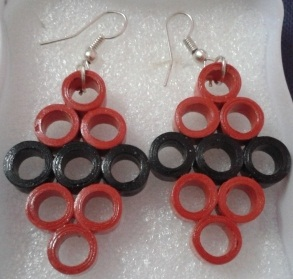 Paper Craft Ideas Quilling Earrings Different Colors Beautiful Designs