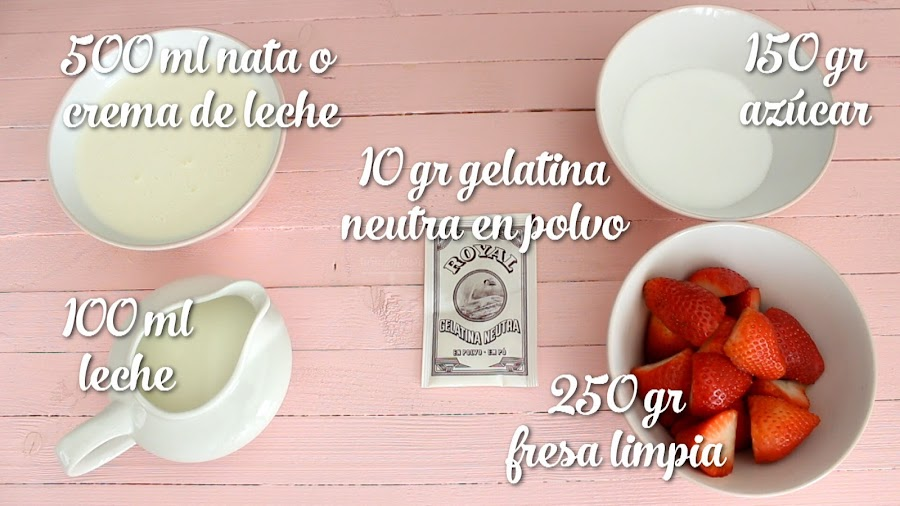 Receta Tarta Mousse de Fresa sin horno