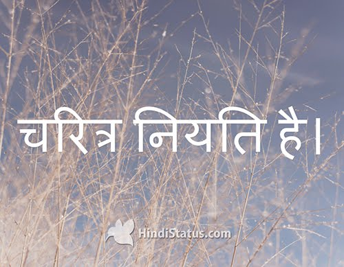 Character Is Destiny Hindi Status The Best Place For Hindi