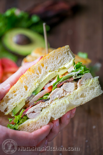 Chicken Bacon Avo Sandwich w/ Kneaders Sauce- Best picnic foods! Love everything on this list! yum!