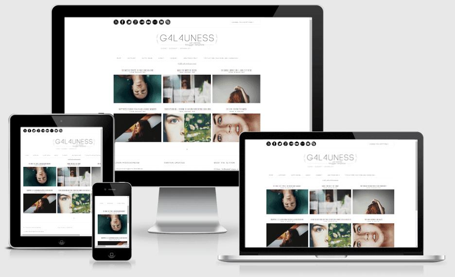 Galauness - Responsive Elegant Blogger Template