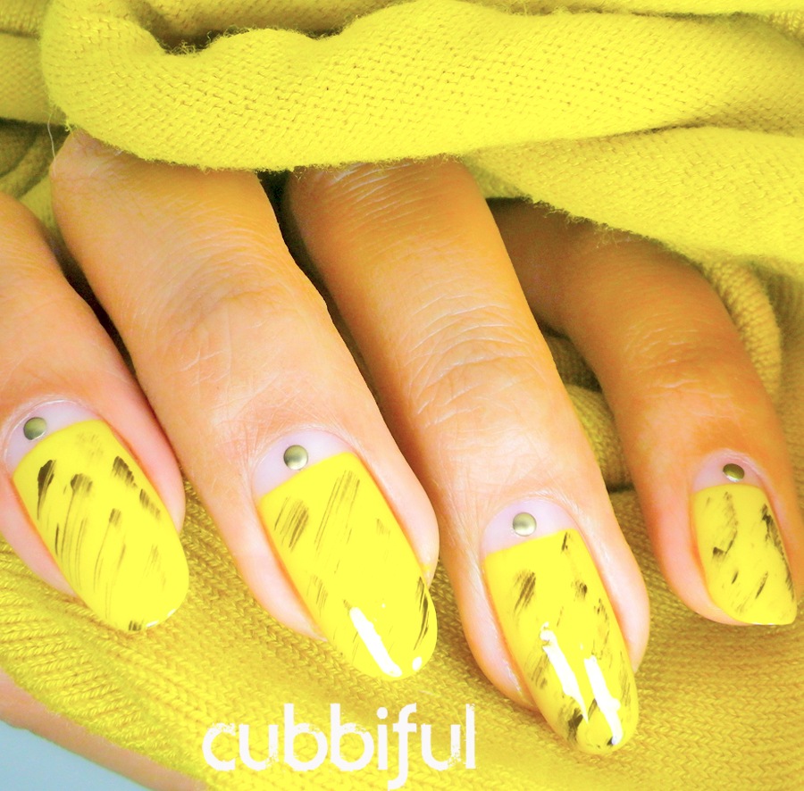 31DC2014 yellow nails