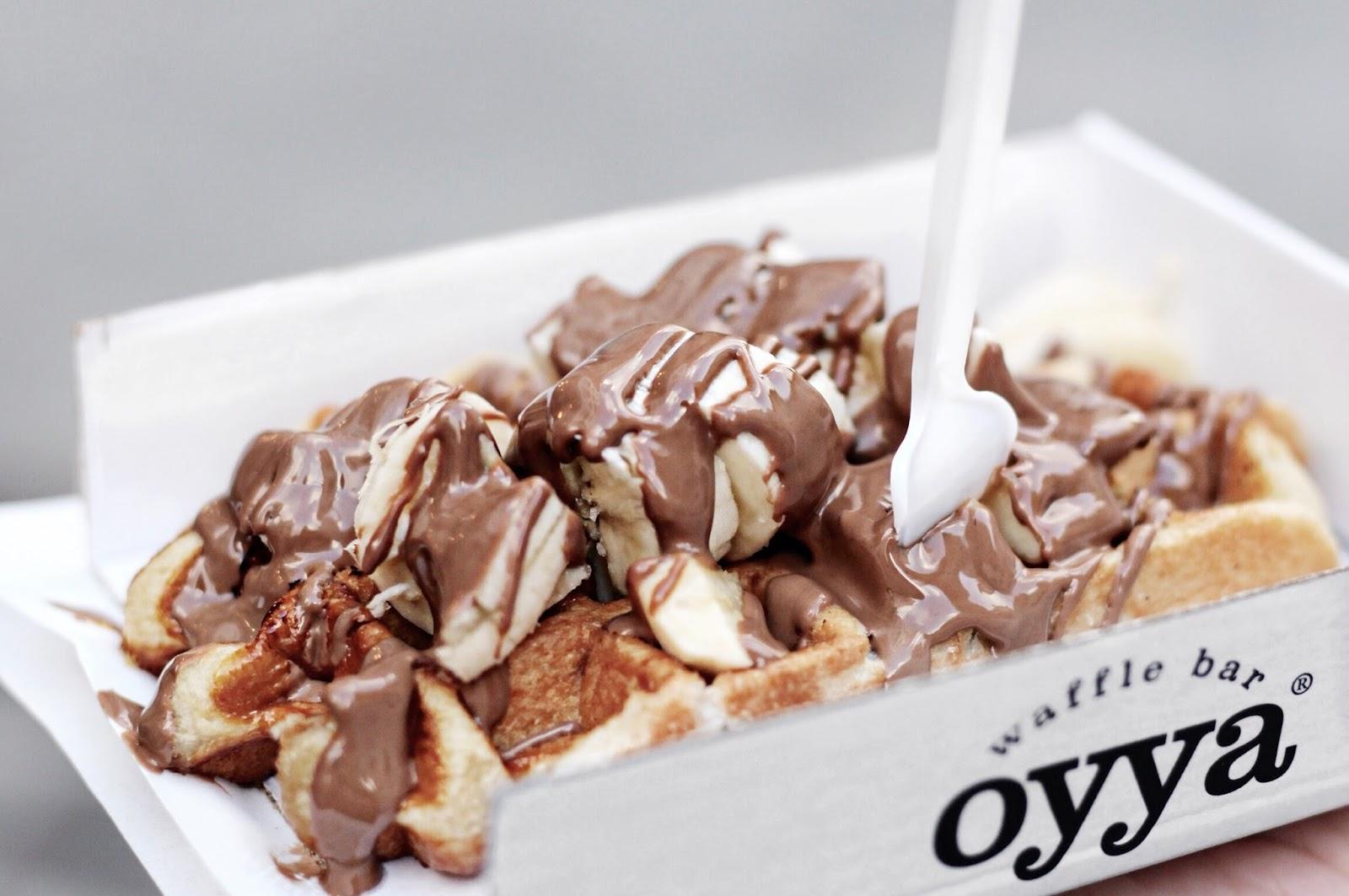 Oyya Chocolate and Banana Waffle