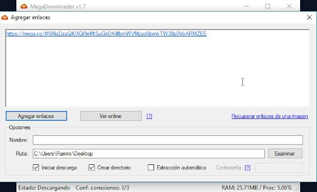 Reproduce audio o video de MEGA sin descargar
