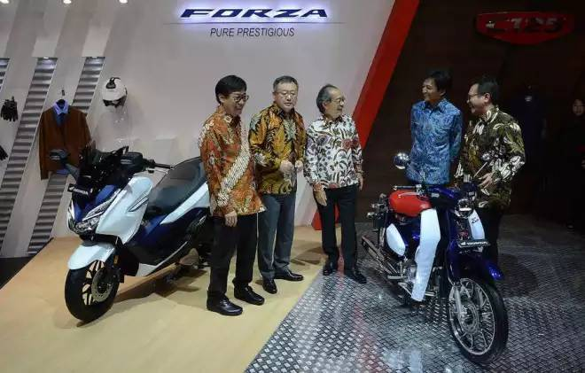AHM Kenalkan Honda Forza 250 Dan Honda Super Cub C125 Di GIIAS 2018