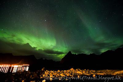 挪威,  羅浮敦群島, lofoten island, norway, eliassen rorbuer, 北極光, aurora, northern light