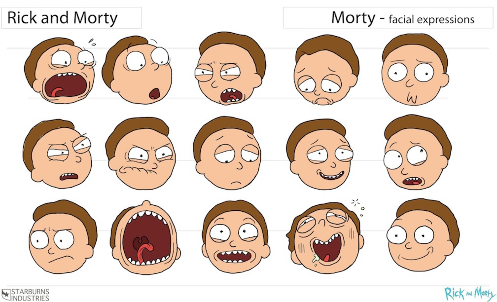 cartoon concept design  rick and morty animation model sheets